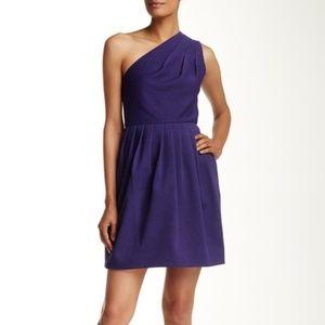 Halston Heritage BLACK one shoulder dress size 6